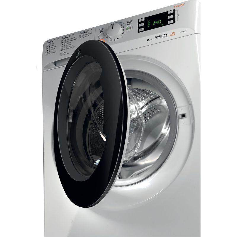 Indesit-Washer-dryer-Free-standing-XWDE-961480X-WKKK-UK-White-Front-loader-Perspective-open