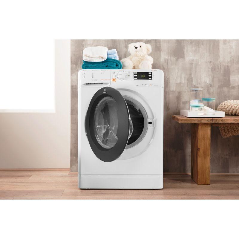 Indesit-Washer-dryer-Free-standing-XWDE-961480X-WKKK-UK-White-Front-loader-Lifestyle-frontal-open