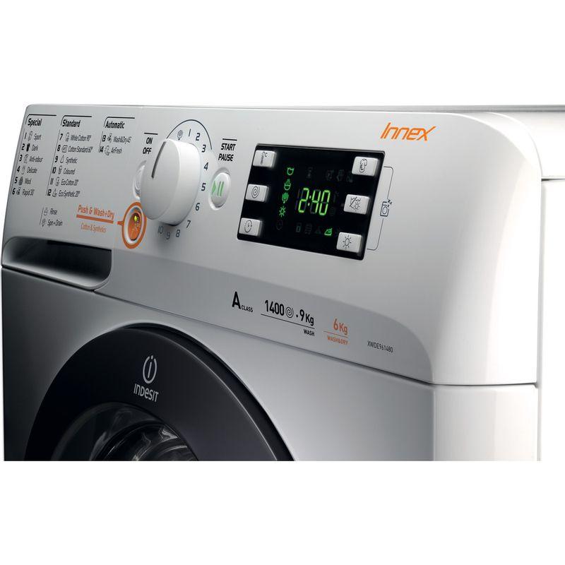 Indesit-Washer-dryer-Free-standing-XWDE-961480X-WKKK-UK-White-Front-loader-Control-panel