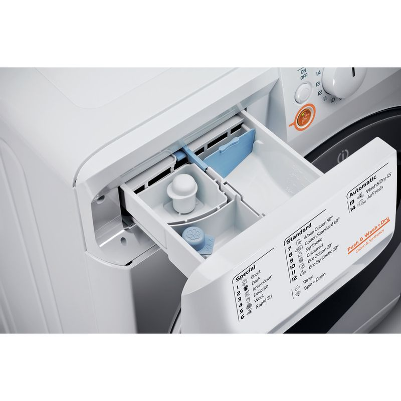 Indesit-Washer-dryer-Free-standing-XWDE-961480X-WKKK-UK-White-Front-loader-Drawer