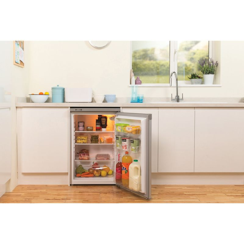 Indesit-Refrigerator-Free-standing-TLAA-10-SI--UK-.1-Silver-Lifestyle_Frontal_Open