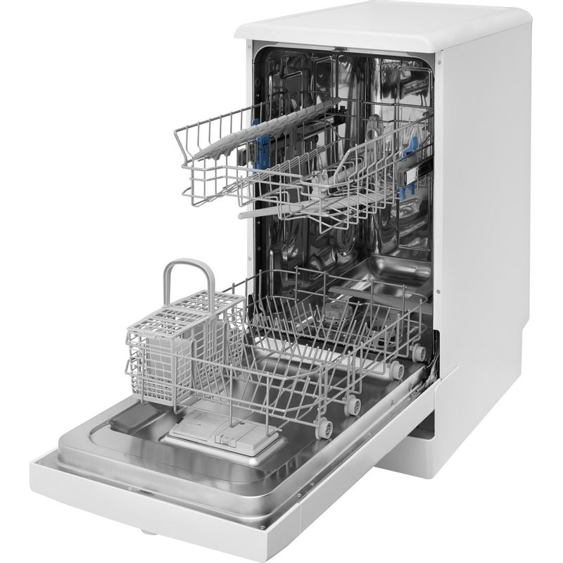 Indesit-Dishwasher-Free-standing-DSFE-1B10-UK-Free-standing-F-Perspective-open